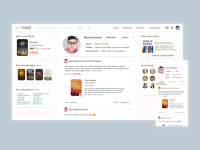 Goodreads Profile Redesign