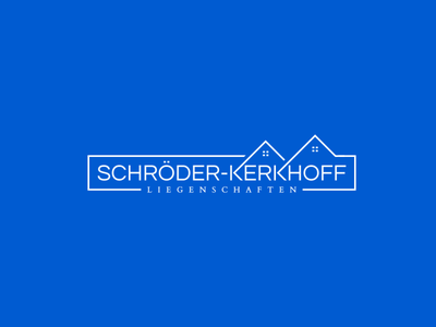 Schröder-Kerkhoff Liegenschaften logo immobilien branding building apartment roof house home estate property management property realestate logo
