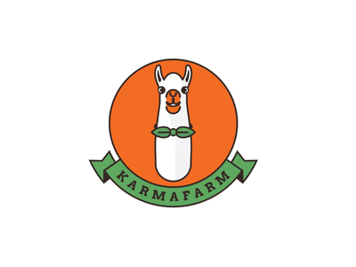 Karmafarm logo 🦙 natural animal farm food eco restaurant karma lama