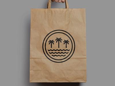 Wood and Water 🌴🌊⛱ water palm logo restaraunt bar beach restaurant