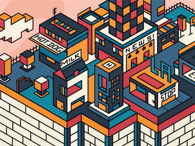Isometric City isometric nature city geometric dribbble illustration graphicdesign design