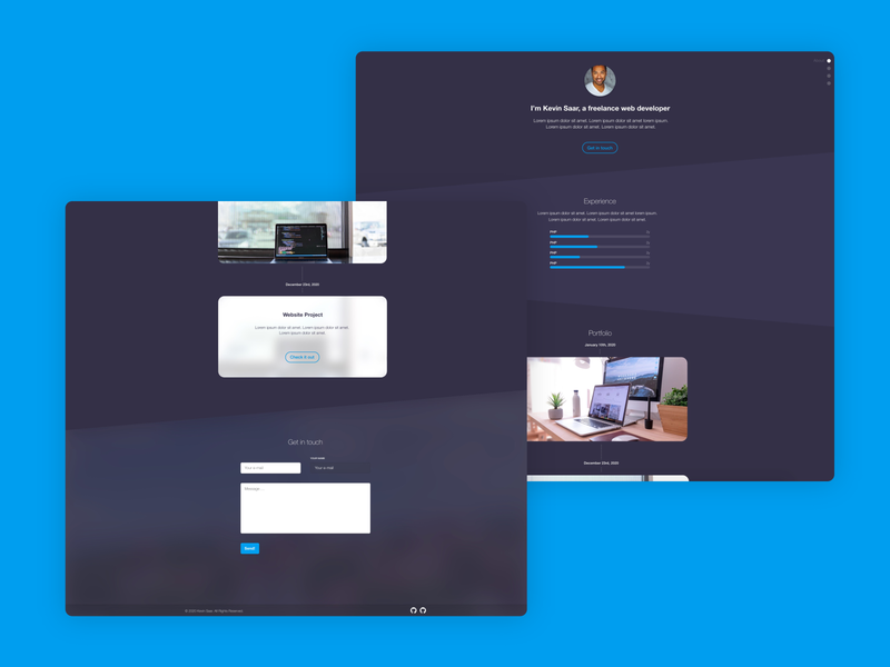Freelance Web Developer Portfolio web design ux ui