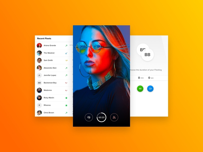 Video calling app mobile light minimal app ux ui