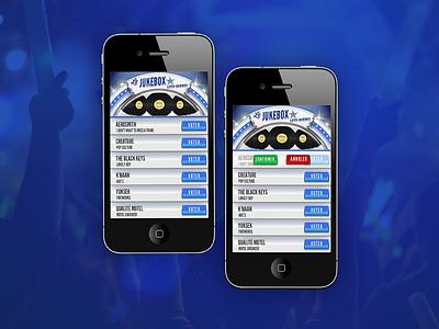 Jukebox Loto-Québec app application agency design art direction