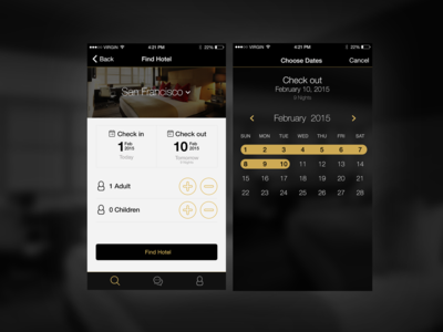 Victor Concierge App Calendar