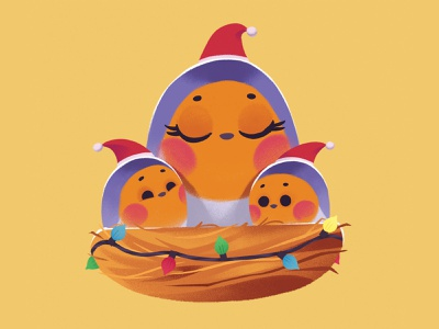 Robins robin animal cute cartoon christmas character illustration