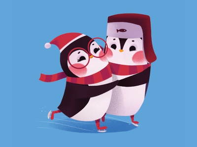 Penguins penguins christmas animal cartoon cute character illustration