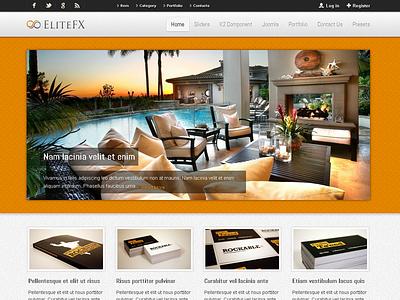 EliteFX - Fully Responsive Joomla Template gantry joomla 2.5 k2 blog business portfolio responsive showcase slideshow sortable portfolio