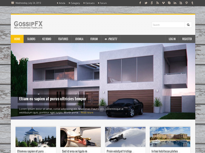 GossipFX - Multipurpose Joomla Template  gantry k2 blog corporate forum joomla joomla 3 kunena magazine portfolio sortable portfolio