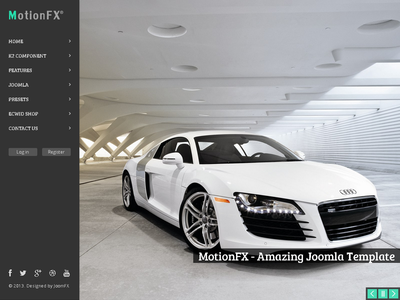 MotionFX - Responsive Joomla Template gantry k2 business ecwid joomla 3 portfolio responsive revolution slider shop slideshow sortable portfolio store