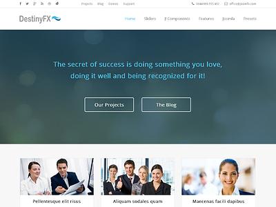 DestinyFX - Corporate Joomla Template gantry hikashop k2 business clean corporate ecommerce joomla 3 portfolio responsive seo