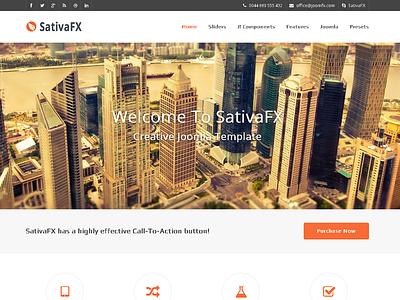 SativaFX - Creative Joomla Template  gantry k2 blog business corporate creative forum gantry framework kunena portfolio projects showcase