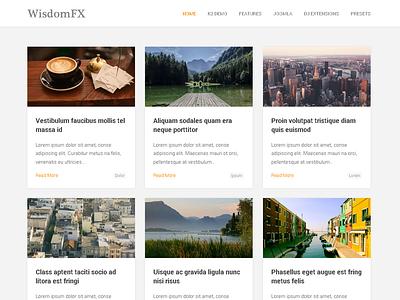 WisdomFX - Blog Joomla Template gantry k2 blog blogging clean personal photography gantry framework