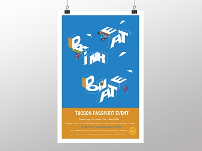 Tucson Passport Event Poster event flyer typography illustration poster design poster graphic design