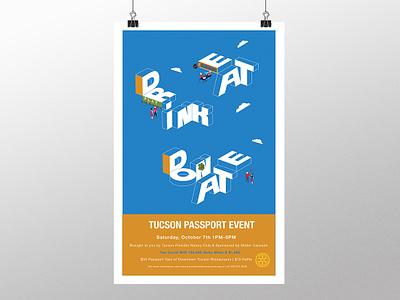 Tucson Passport Event Poster event flyer typography illustration poster design poster graphic design