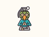 Guru Grenade Logo Concept