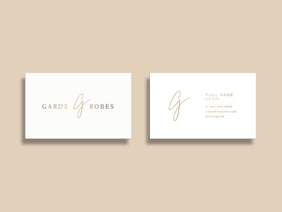 Garde Robes Business Cards