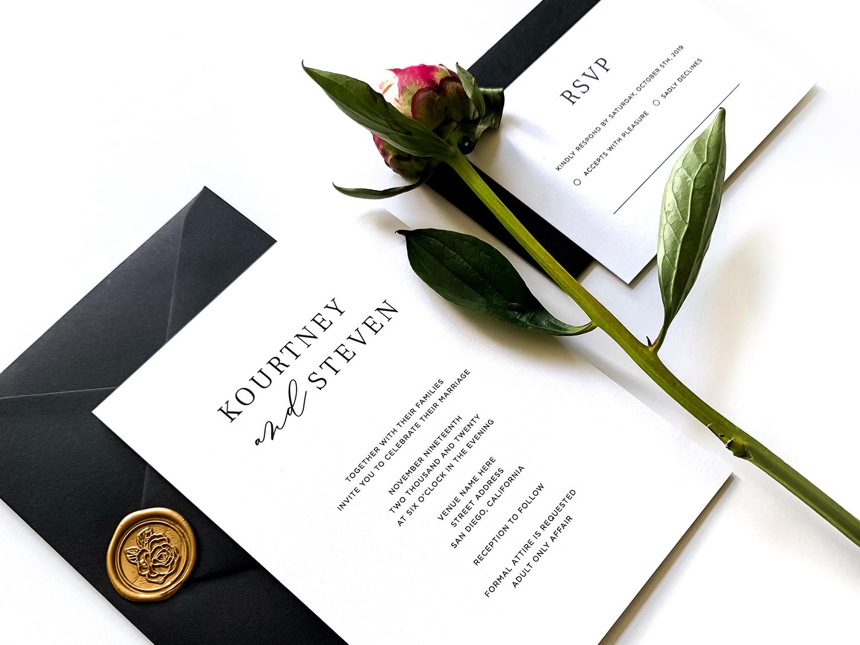 The Kourtney - Wedding Invitation wedding invitation wedding invite typography design graphic design