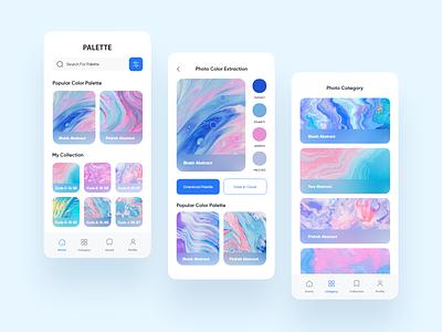 Palette blur palatte color palatte color ectraction photo productdesign uiux app