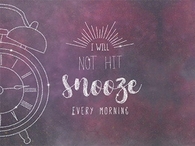 Small Goals morning simple illustration lettering stars lauren hom alarm clock snooze galaxy space goals