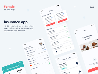 Insurance app compensation billings policies insurtech uxdesign forsale policy claims insurance insurance app dailyui