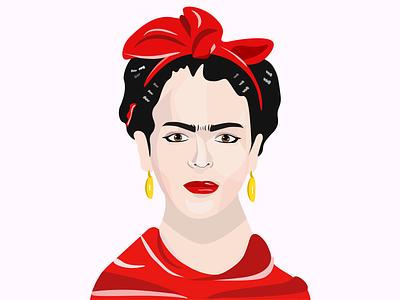 Frida Kahlo illustration dailyuichallenge icon branding logo dailyui art vector illustration frida fridakahlo