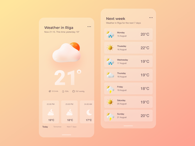 Weather app appdesign web 3d branding inspiration mobileapp ui design uxdesign ui weatherapp weather dailyui dailyuichallenge