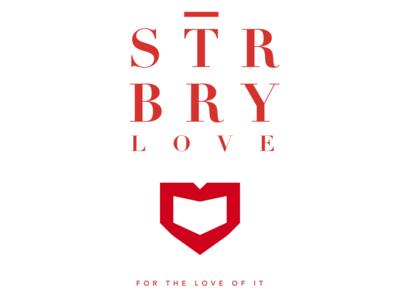 Strbry Love   Red On White