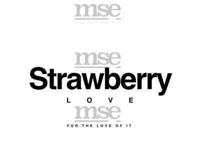 Strbry Love Plain   Black On White
