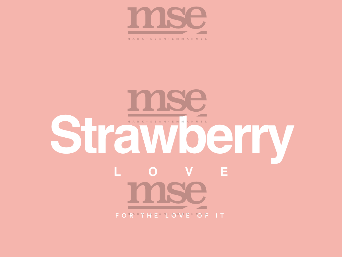 Strbry Love Plain   White On Melon branding fashion design fashion brand logo design