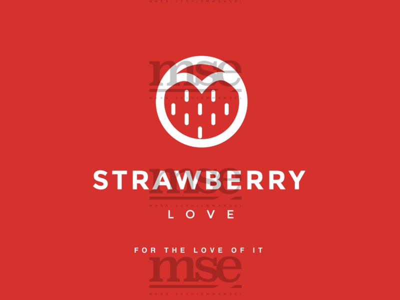 Circle Of Love   White On Red illustration flat fashion design fashion brand branding logo design