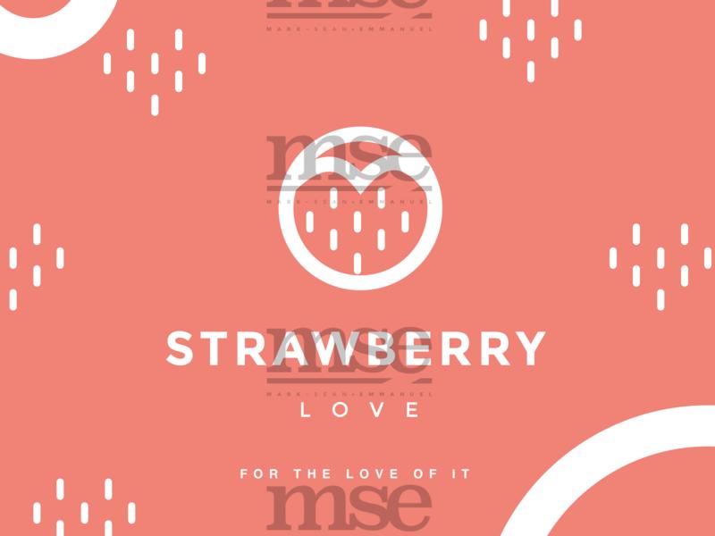 Circle Of Love   White On Tea Rose   Hrts illustration flat fashion design logo fashion brand branding design