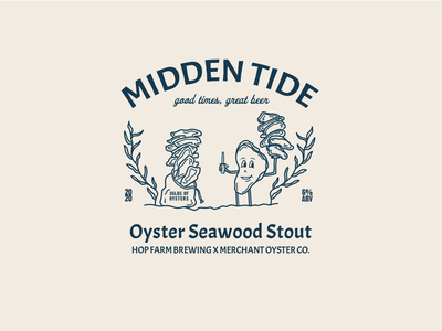 Beer label: oyster stout retro brewery illustration oyster label beer beer label