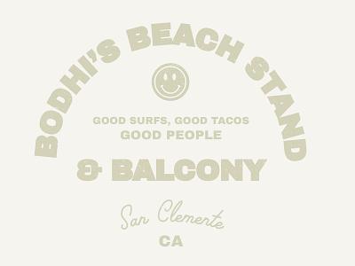 Bodhi's beach vintage logo neutrals vintage illustrator logo branding coastal
