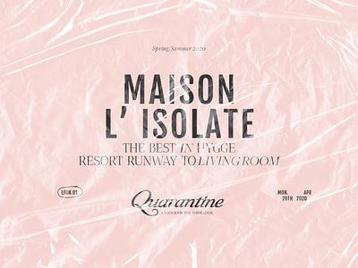 Isolation, But Make It Fashun. dusty pink vintage fashion typography design retrowrap texture typography