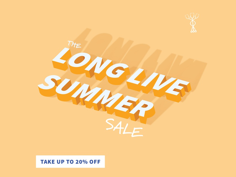 Labor Day Sale summer sale boardvitals endless summer long live summer isometric text isometric illustrator labor day