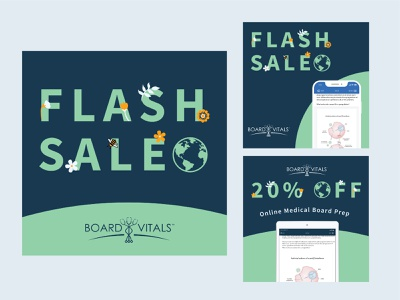 BoardVitals Earth Day Flash Sale - Concept hippie earthy flash sale mobile app medical board prep medical boardvitals mother nature product design earth day