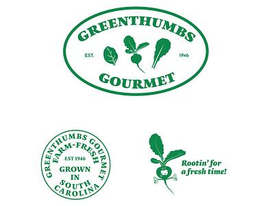 Farm-fresh logo design logo system cartoon beet vintage retro green organic brand identity branding brand identity design adobe illustrator emblem illustration illustrator