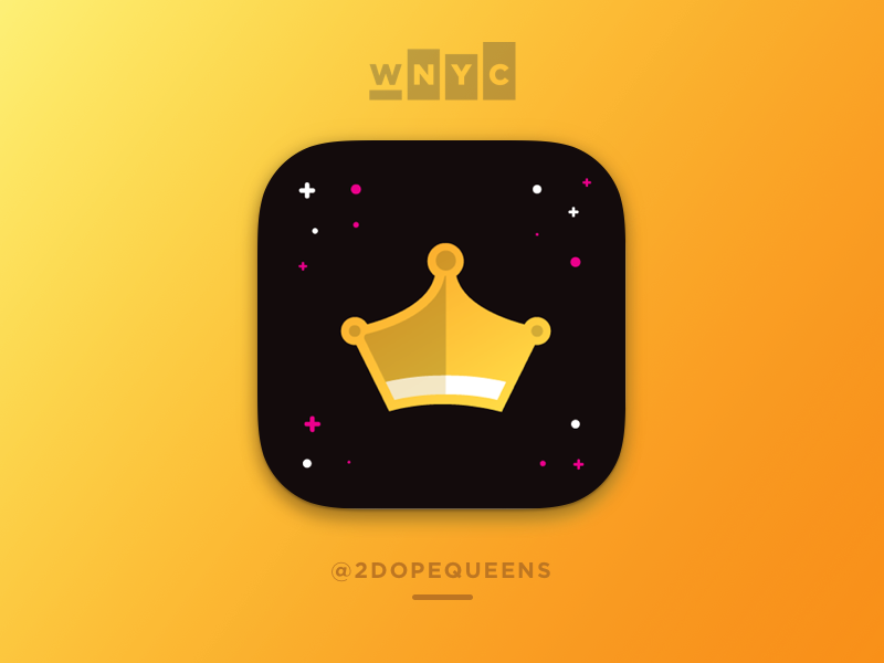 Daily UI #005 App Icon queen gold crown 2 dope queens wnyc ios icon app icon daily ui 005 daily ui