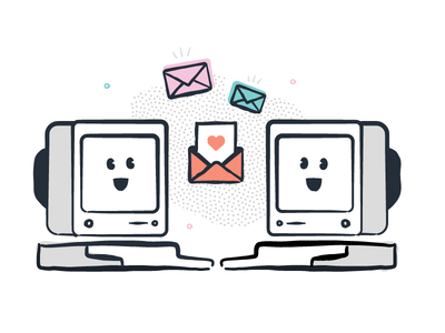 Have Them at Hello ipad pro illustration computers email