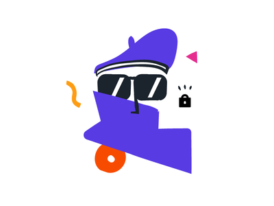 Privacy beret detective privacy illustration splash