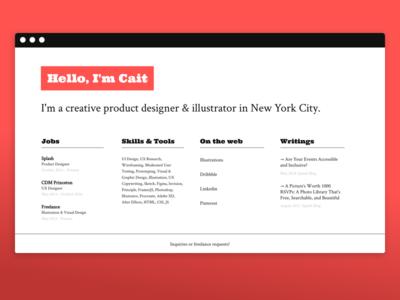 New Landing Page designer landing page clean website