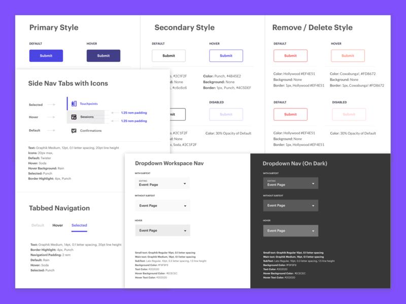 SUI Updates for Splash pt. 2 component library design guidelines design system