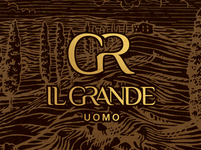 Il Grande uomo logo&style background style clothes italy logo design logotype colour brand