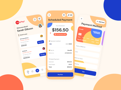 OnlyPay! - Payment App funny cute colorful fun payment form payment method payment app mobile app dashboard bank bank card credit card transfer send money income transaction payment pay mobile mobile ui