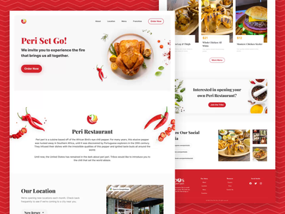 Peri Restaurant - Food Delivery Landing Page ui design ui design uidesign eat food delivery service online food delivery restaurant resturant landing page chicken food delivery food landing page landing page website design web design animation