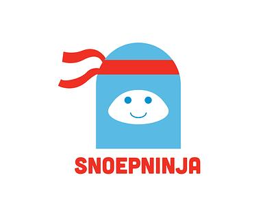 Snoepninja logo ninja simple cartoon