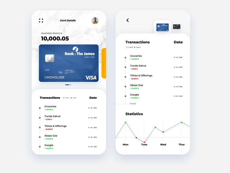 bank card ui