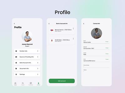 Paradise profile, notification, edit, picture contact design uiux investment bank edit website product design notifications account principle icons profile