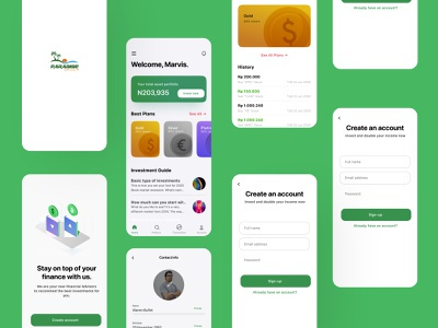 An overview of [aradise group design userinterface designthinking uiux minimal app design investment